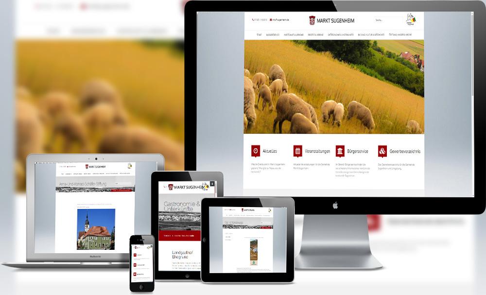 Webdesign und Programmierung für Markt Sugenheim von Divinci Schweinfurt