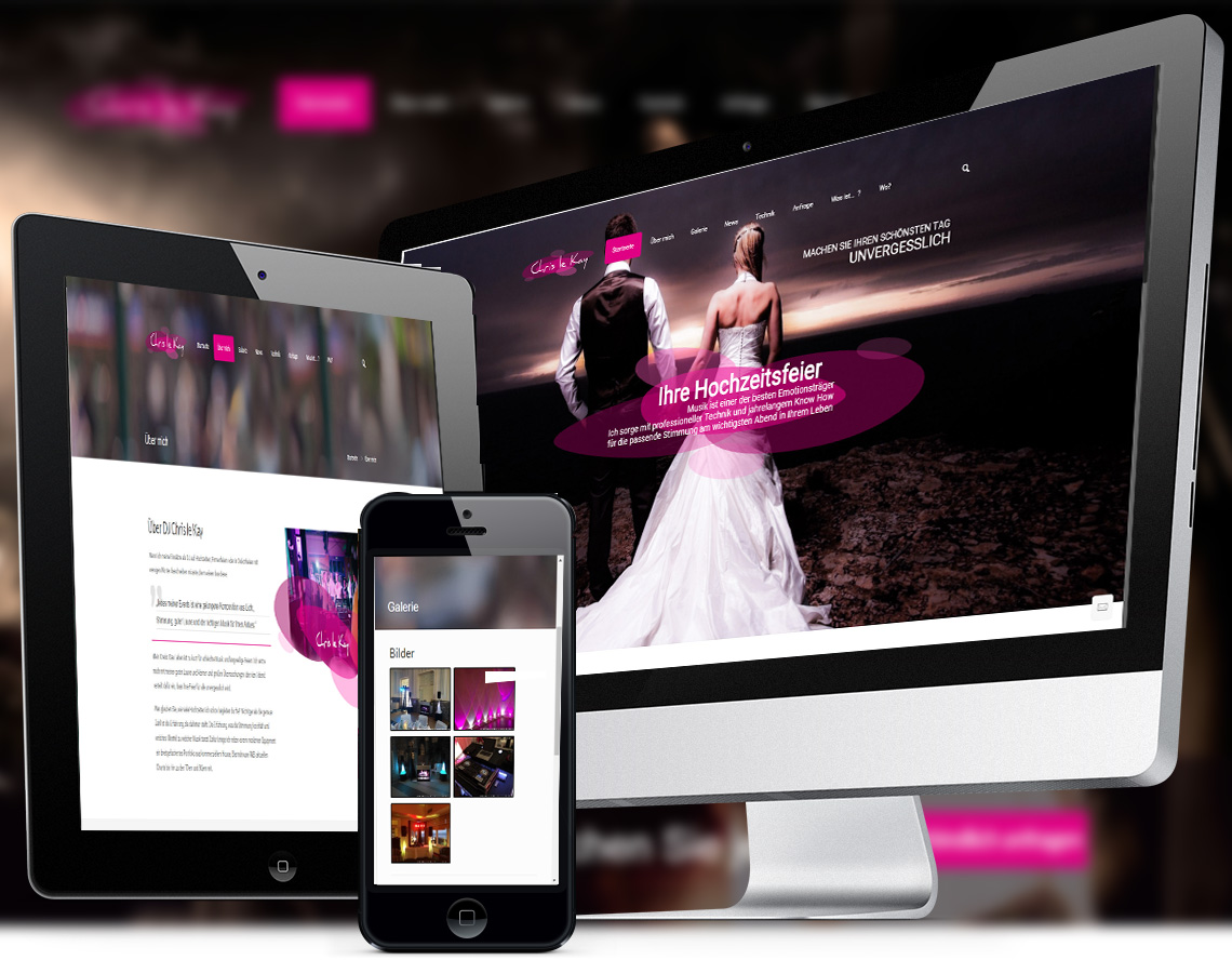 Webdesign und Programmierung für Dj Chris le Kay von Divinci in Schweinfurt