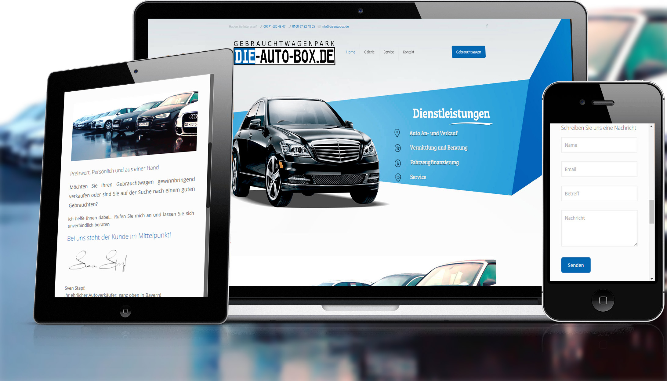 Webdesign für Die Autobox von Divinci in Schweinfurt