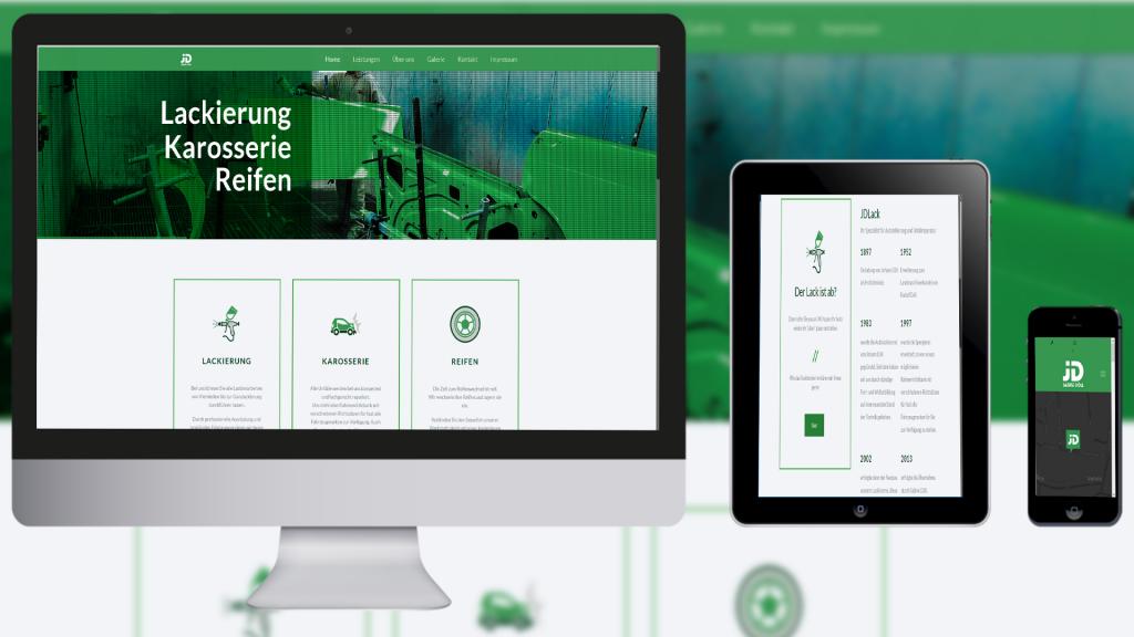 Webdesign und Programmierung für Autolackiererei Döll von Divinci in Schweinfurt
