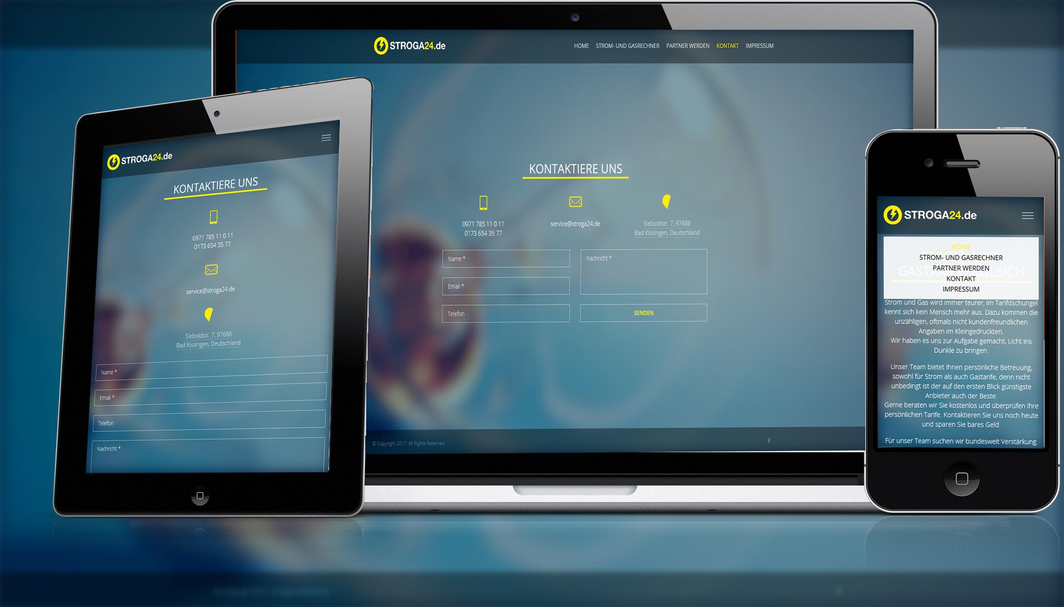 Smartphonefähiges Webdesign von Divinci in Schweinfurt