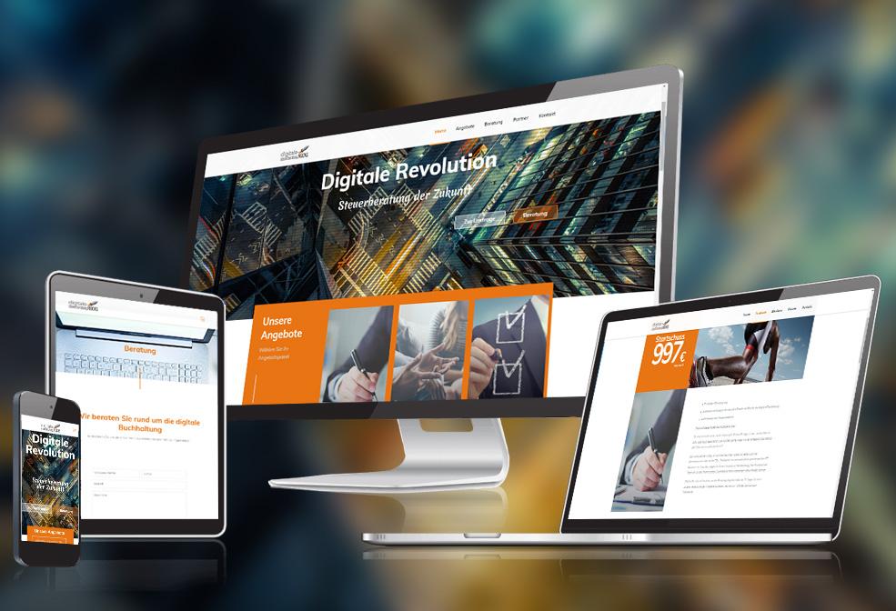 Webdesign und Softwareprogrammierung für Digitale Steuerberatung von Divinci in Schweinfurt